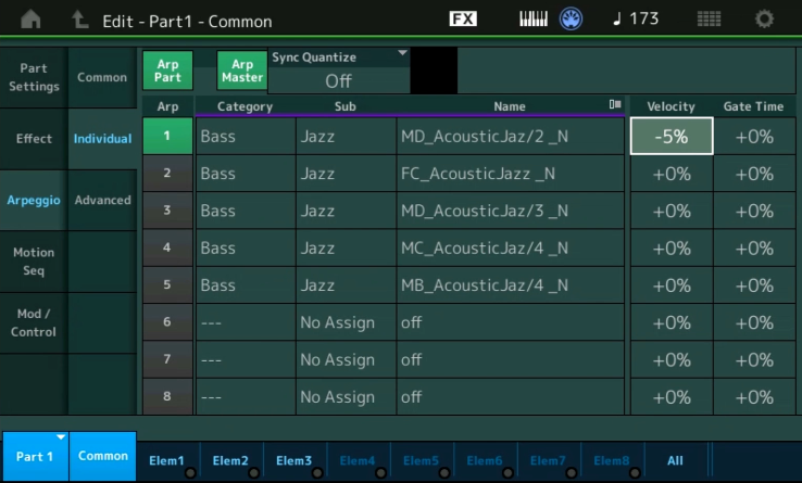 Moessieurs Mondays: Arpeggio Individual and Advanced Settings