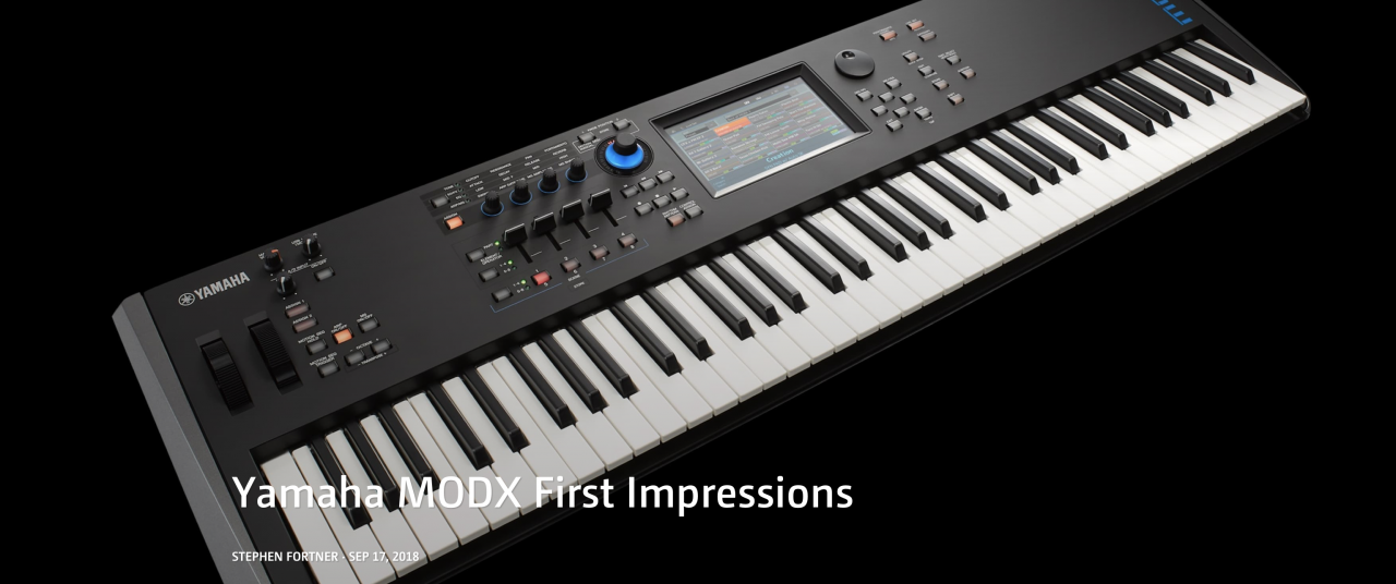 Keyboard Magazine: MODX First Impressions