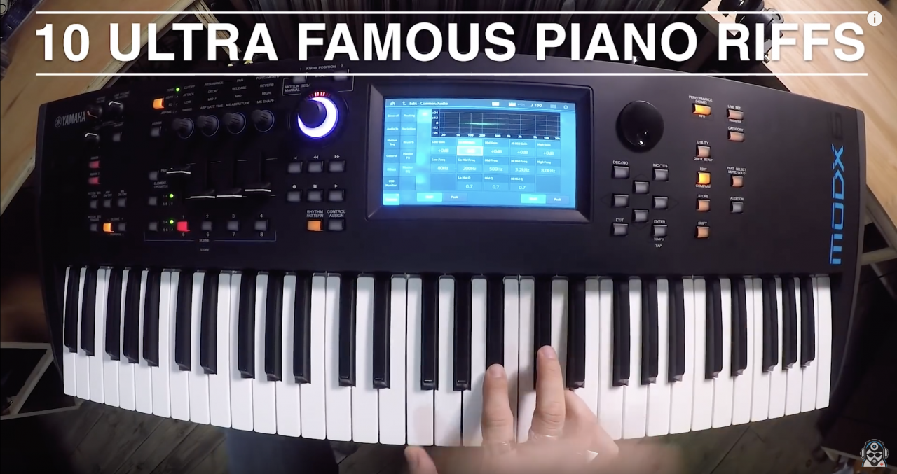 Synthbits: 10 Ultra Famous Piano Riffs with MODX (Dr. Mix)