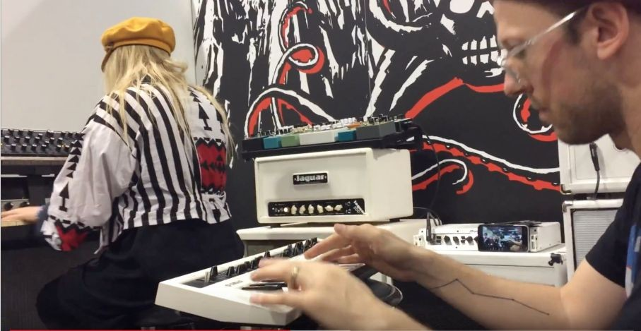 Synthbits: Nick Semrad and Domi Degalle Impromptu Jam at NAMM 2018