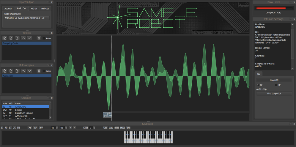 sample robot user interface